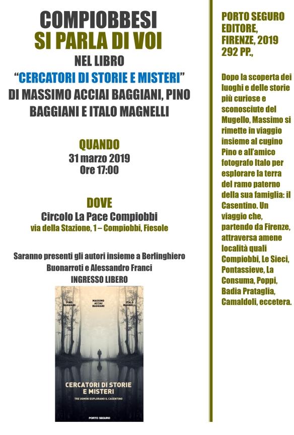 Presentazione del libro CERCATORI DI STORIE E MISTERI 31 marzo 2019 DEFINITIVA